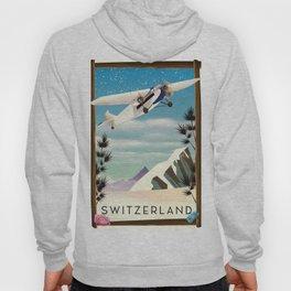 Switzerland travel poster Hoody