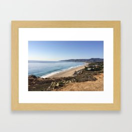 Malibu, California - Coastline Framed Art Print