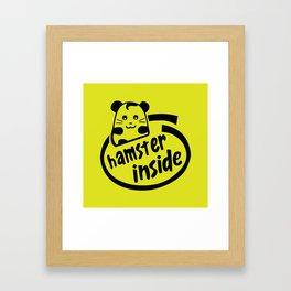 hamster inside Framed Art Print