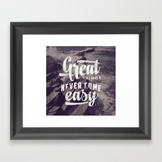 Great Things Framed Art Print