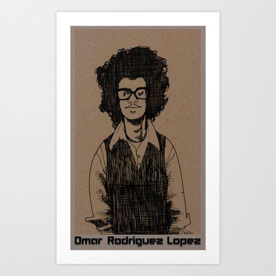Omar Rodriguez Lopez Art Print