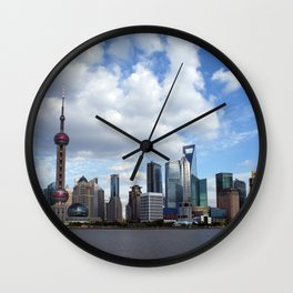 The City Of Shanghai Wall Clock