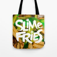 fries Tote Bags featuring Slime Fries by Kyle Harlan