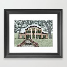 House With Tulips Framed Art Print