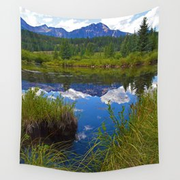 Pyramid Mountain in Jasper National Park, Canada Wall Tapestry