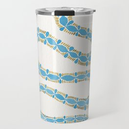 Serpent – Cornflower Blue & Gold Travel Mug