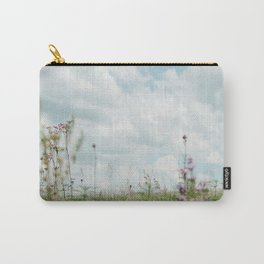 Wildflower Sky - Clouds and Flowers Carry-All Pouch