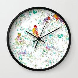 Jungle Bird Party Wall Clock