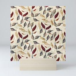Golden Seed Pods Rustic Nature Botanical Print Mini Art Print