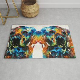 Colorful Dog Art - Heart And Soul - By Sharon Cummings Rug