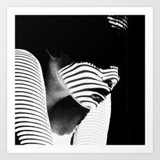 Shadow Lady Art Print