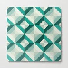 Emerald (Geometric pattern series) Metal Print
