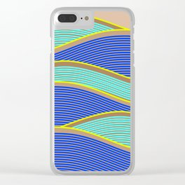 Happy Times - Neon Waves Clear iPhone Case