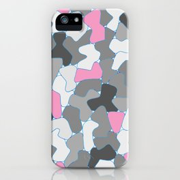 Stone Wall Drawing #2 Pink iPhone Case
