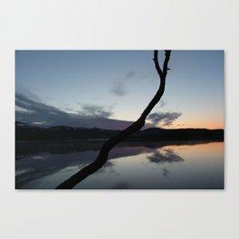 Sunset on lake, Nature Photography, Landscape Photos, sunset photos Canvas Print