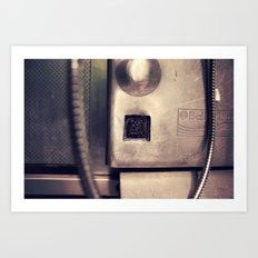 Pay Phone VI Art Print