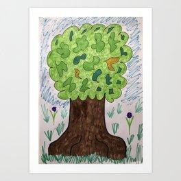 Oak Tree of Life Art Print