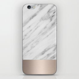 Carrara Italian Marble Holiday White Gold Edition iPhone Skin
