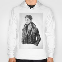 captain hook Hoodies featuring Captain Hook by Olivia Nicholls-Bates
