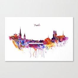 Zurich Skyline Canvas Print