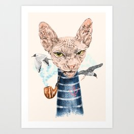 Sphynx Cat II Art Print