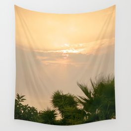 cloudy sky in the oasis Wall Tapestry