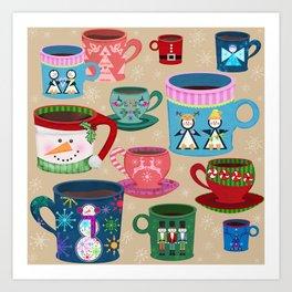 Fa La La La Latte Art Print