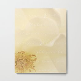 Delicate Rose Metal Print