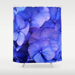 Hydrangea Dark flower pattern Shower Curtain