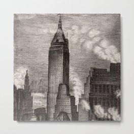 Harlem Renaissance Masterpiece 'NYC Skyscrapers' by Isac Friedlander Metal Print