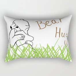 Bear Hug? Rectangular Pillow