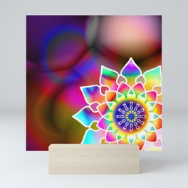 Hippie mandala Mini Art Print