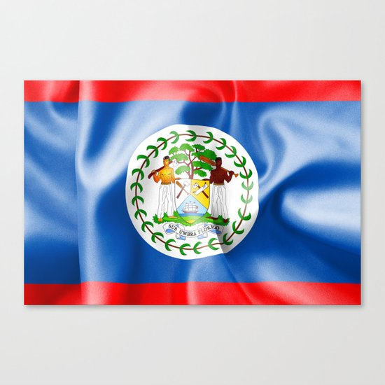 Belize Flag Canvas Print