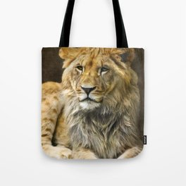 The young lion Tote Bag