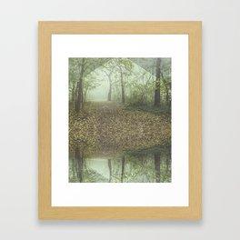 Walk in the Surreal Misty Forest Framed Art Print