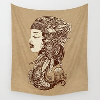 gypsy Wall Tapestries featuring Gypsy Girl by Beery Method