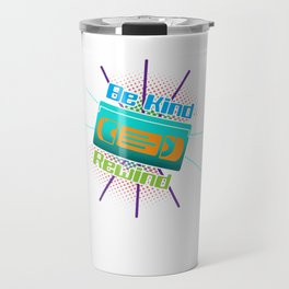Be Kind Rewind VHS Player Viedo Home Recorder Casette Machine Tapes Gift Travel Mug