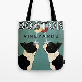 Boston Terrier Wine Vineyards Fowler Tote Bag