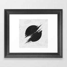 The Sun Is Black Framed Art Print