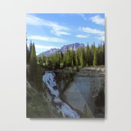 Brooks Lake Creek Falls Metal Print