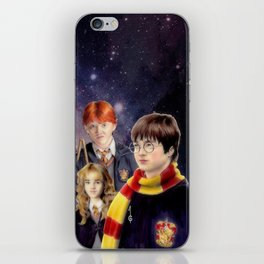 Harry, Hermione and Ron (fanart) iPhone Skin