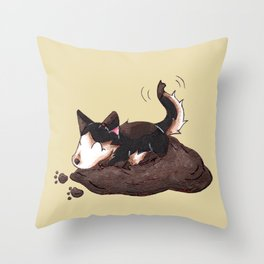 Mud Puppy Throw Pillow