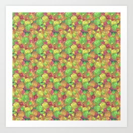 Refreshing Fruit Toss Art Print