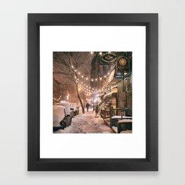 Snow - New York City - East Village Framed Art Print