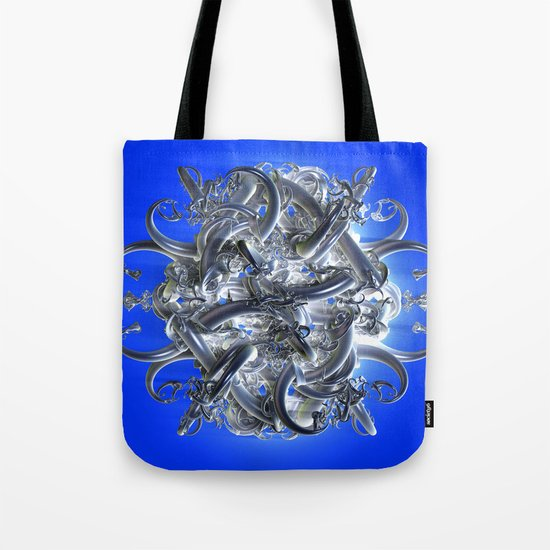 horned circle blue Tote Bag