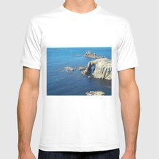 Cornwall White MEDIUM Mens Fitted Tee