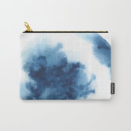 Watercolor Circle Abstract Simple | Blue Blob May 33 Carry-All Pouch