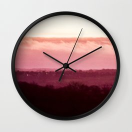 Sunset in Pink bywhacky Wall Clock