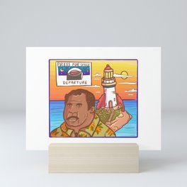 Stanley Hudson and his decommissioned lighthouse Mini Art Print