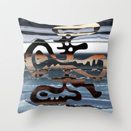 buried symbol Throw Pillow